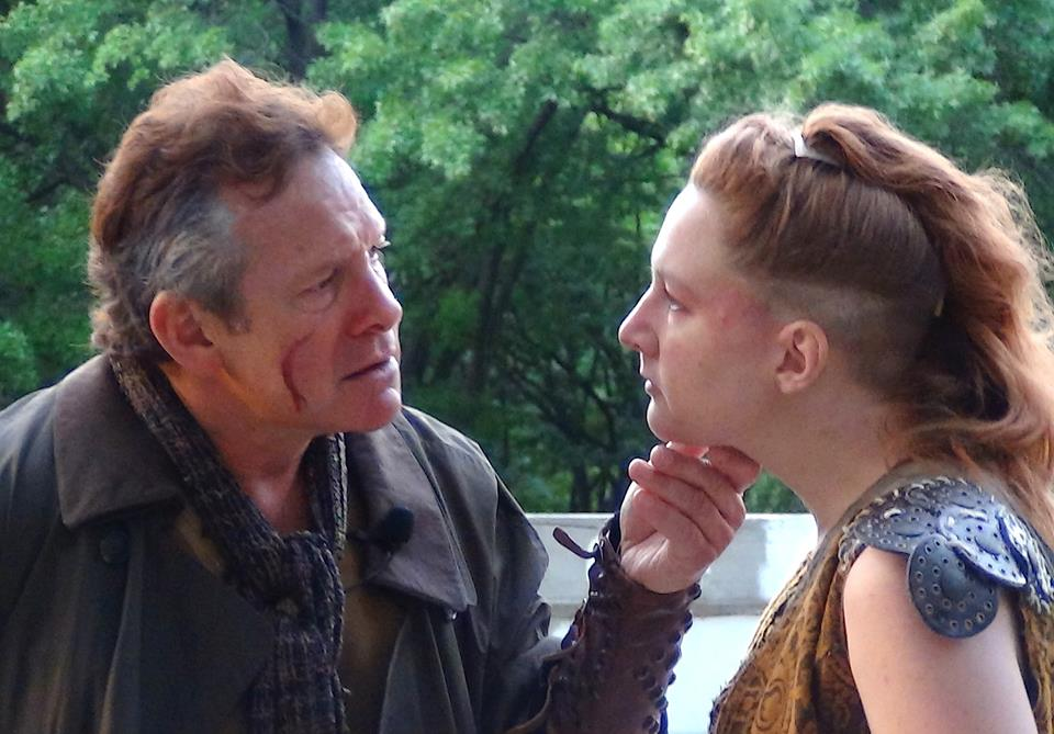 Henry 4.1 June 2015 -- Steve Guttenberg as the Earl of Northumberland and 				Artist in Residence Julie Baber as Hotspur